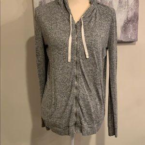 Express Zipper Hooded Sweater/shirt